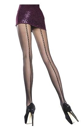 Collant couture fantaisie noir Parisia  Amazon.fr  Vêtements et ... a35e969d2e4