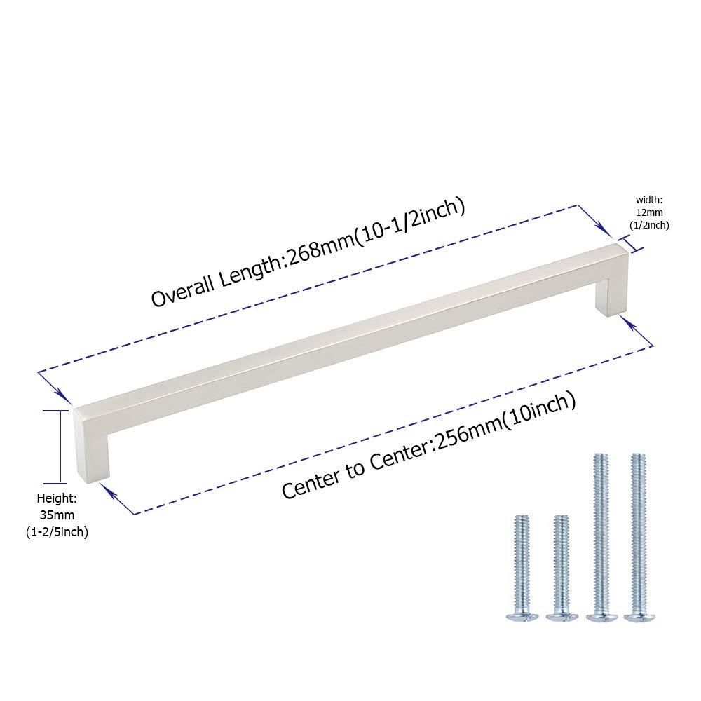 caj/ón para armario cocina Tirador Goldenwarm/® de acero inoxidable cepillado ancho del tubo 12/mm x 12/mm
