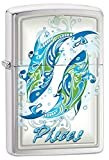 Pisces Zippo Outdoor Indoor Windproof Lighter Free Custom Personalized Engraved Message Permanent Lifetime Engraving on Backside