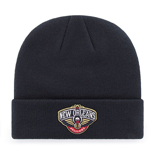fan products of NBA New Orleans Pelicans OTS Raised Cuff Knit Cap, Navy, One Size