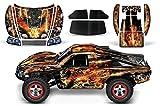 Designer Decal for Traxxas Slash 1 10 (#58034) and Slayer 1 10 (#59074) AMRRACING RC Kit - Firestorm - Black