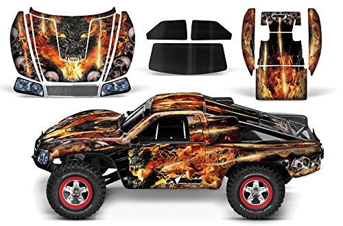 (Designer Decal for Traxxas Slash 1/10 (#58034) and Slayer 1/10 (#59074) AMRRACING RC Kit - Firestorm - Black)