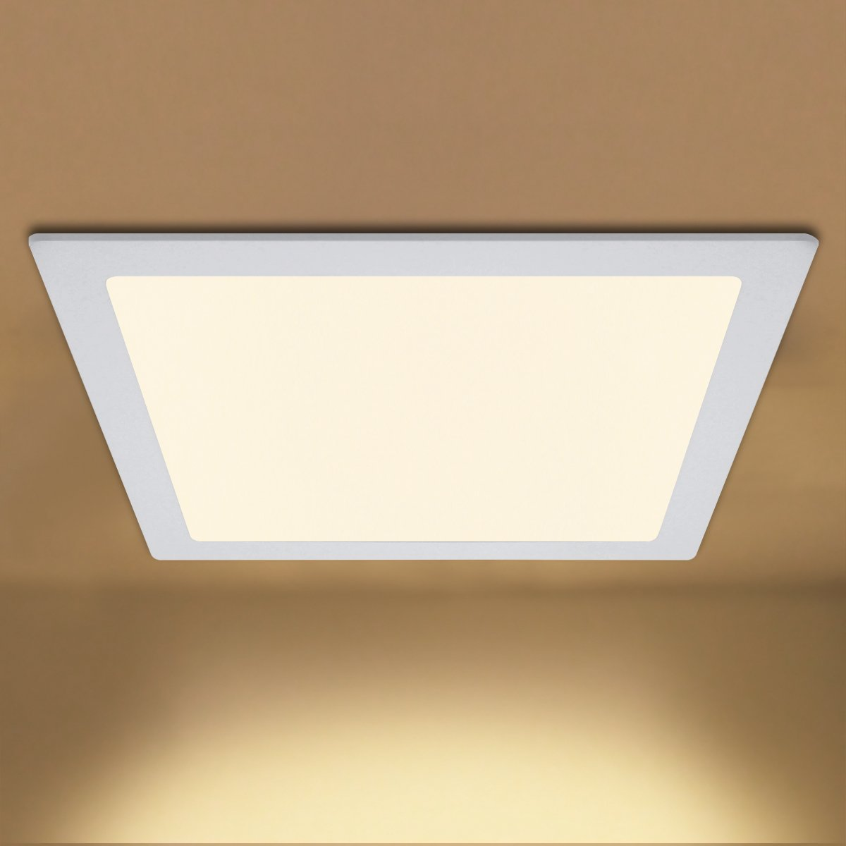 24w Square LED Ceiling Panel Recessed Down Light Flat Ultra Slim Lamp Warm White 3500K Super Bright 300mm x 300mm [Energy Class A+] Long Life Lamp Company