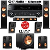 Klipsch RP-280F 5.1.2 Dolby Atmos Home Theater System with Yamaha RX-V681BL 7.2-Ch Network A/V Receiver