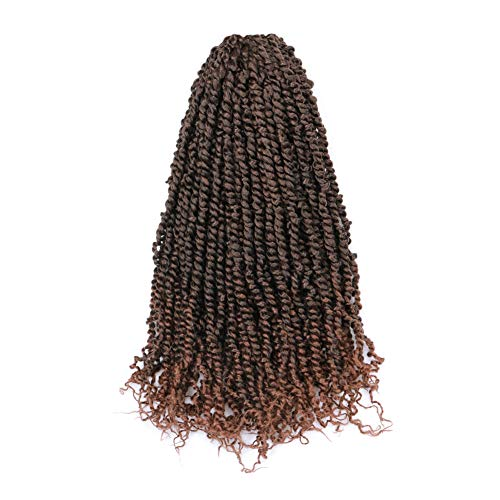 Toyotress Tiana Passion Twist Hair Ombre Brown 8 Packs(12 strands/pack) Pre-Twisted Passion Twists Crochet Hair Pre-Looped Crochet Braids Synthetic Braiding Hair Extension (20 inch, T1B/30) (Best Crochet Hair Brand)