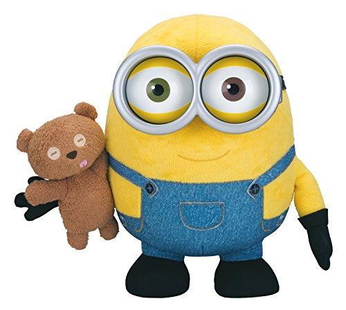 MTW Toys 20196 - Minions Funktionsplüsch, Bob mit Teddy,  26 x 25 x 20 cm