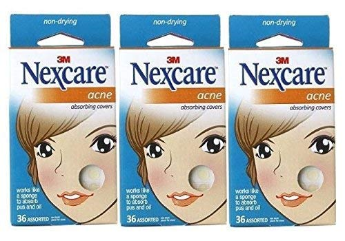 Nexcare Acne Absorbing Covers, Assorted 36 ea Package of 3 | ⭐️ Exclusive