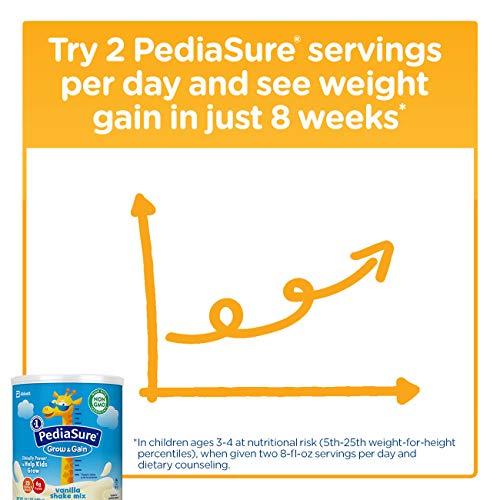 PediaSure Grow & Gain Vanilla Shake Mix, Nutrition Shake for Kids, 14.1 oz, 6 count by Pediasure Powder (Image #4)