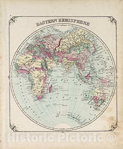 Historic 1876 Map   Illustrated Historical Atlas of Porter County, Indiana.   Eastern Hemisphere   Hardesty's Atlas of Porter Co, Indiana 44in x 54in