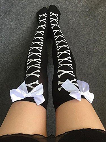 Buyeonline Vrouwen Lange Overknee Dij Hoge Sokken Kous Boot Sokken