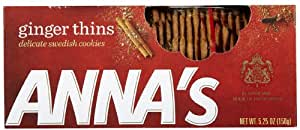 Anna's Ginger Thins Swedish Cookies 5.25 Oz