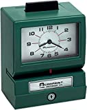 Acroprint 011070411 Model 125 Analog Manual Print Time Clock with Month/Date/0-12 Hours/Minutes