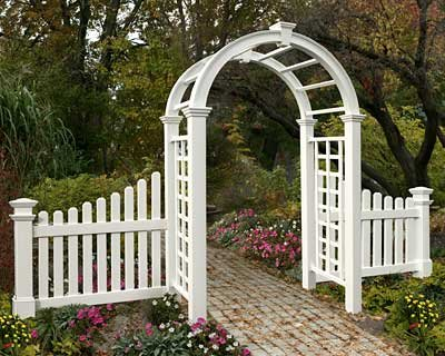 BestNest New England Nantucket Deluxe Arbor and Cottage Picket Wings (Picket Fence Wings)