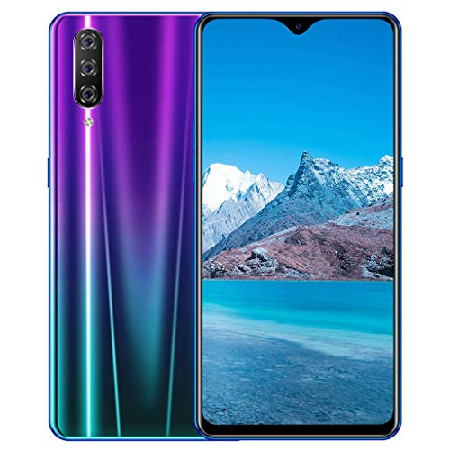 M9 Unlocked Mobile Smart Phone,Eight Core 6.3inch Drop Screen Android 9.1 1G+16G GPS 3G Call Smartphone Suitable for Facebook (154×76×8mm, Purple) ()