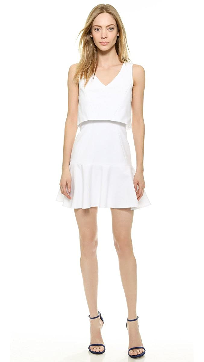 Suerhatcon Womens Tunic Mini Dress White