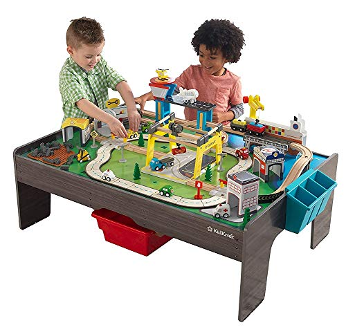 KidKraft My Own City Vehicle and Reversible Activity Table 120+ Pieces ()
