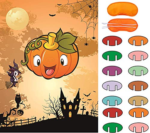 Web On Face For Halloween (Pin The Nose on The Pumpkin Game Halloween Party Favors Halloween Game Halloween Decorations)