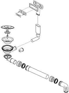 """BLANCO Ablaufgarnitur 1 x 3,5/"""" mit Zug Ablauffernbedienung Überlauf rechteckig"""