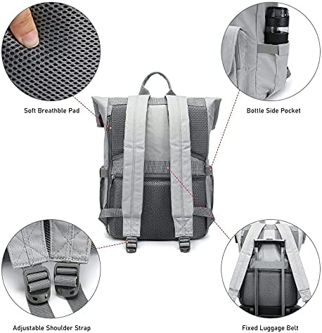 LOVEVOOK Laptop Backpack For Women College Backpack 15.6inch Anti-theft Waterproof Vintage School Bag Daypack Backpack