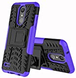 lg 2 phone accessories - LG Zone 4 Case,LG Aristo 2, LG Tribute Dynasty SP200,LG Fortune 2,LG Risio 3,LG K8 (2018) Case,Yiakeng Wallet Accessories Hard Protective Flip Waterproof Phone Cases with A Kickstand (Purple)