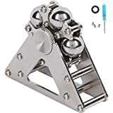 DMaos, New Ferris wheel Fidget Spinner Tri Spin Finger Games Hand Toy Smooth Metal Stainless Steel Ceramic Stable Bearing Crusader Ultra Durable EDC High Speed – Silver