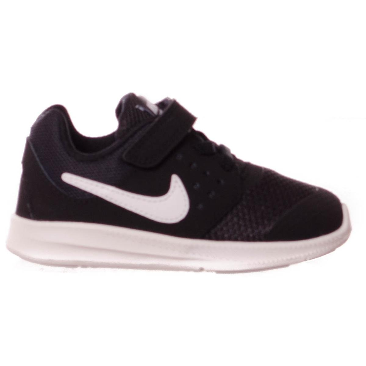 NIKE Baby Boy's Downshifter 7 Athletic Shoe (8 Toddler M, Black/White/Anthracite)