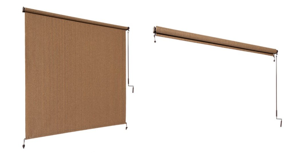 Amazon.com : Coolaroo Outdoor Cordless Roller Shade 8ft by 8ft ...