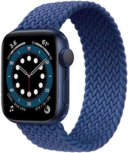 Jonwin Geflochtenes Solo Loop Kompatibel Mit Apple Watch Armband 38mm 40mm 42mm 44mm Elastic Nylon Sport Ersatzband Für Iwatch Serie 6 5 4 3 2 1 Se Uhren