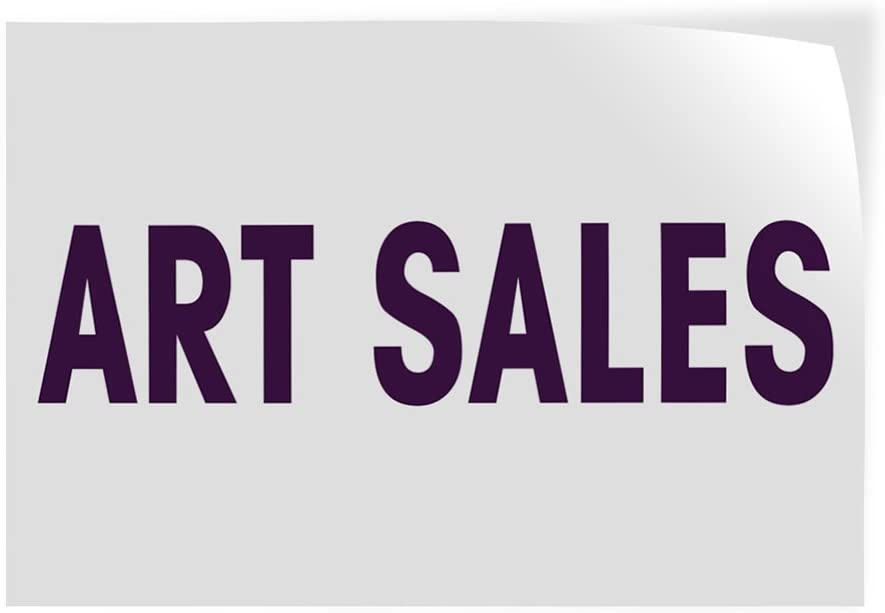 Set of 2 52inx34in Decal Sticker Multiple Sizes Art Sale #1 Business Art Sale Outdoor Store Sign White