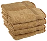 Superior Luxurious Soft Hotel & Spa Quality Hand Towel Set of 8, Made of 100% Premium Long-Staple Combed Cotton - Toast, 16'' x 30'' each
