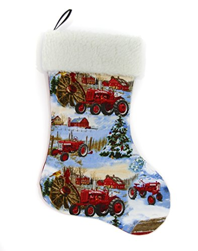 hristmas Stocking, Farmall Cub, A and H tractors ()