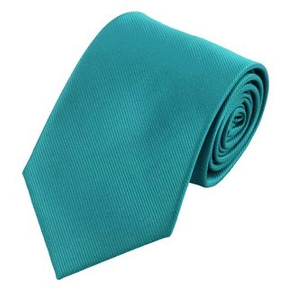 Jason&Vogue - Corbata - Rayas - para hombre azul turquesa Talla ...