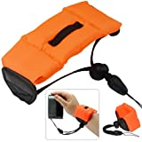 First2savvv PF-XJ-A07 new orange Bobber Floating floaty grib Handheld digital camera SLR hand strap grip for CASIO EX-ZR50 EX-TR50 PowerShot G7XCanon IXUS 165 275 ELPH 350 HS SX610 panasonic LUMIX DMC-TZ70 DMC-GF7 WG-5 GPS OLYMPUS TG-860 SH‑2