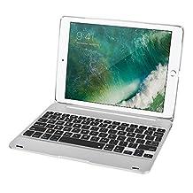 iPad Air 2 Keyboard Cover, Collen Wireless Keyboard Case for iPad Pro 9.7 / iPad Air 2 (Silver)