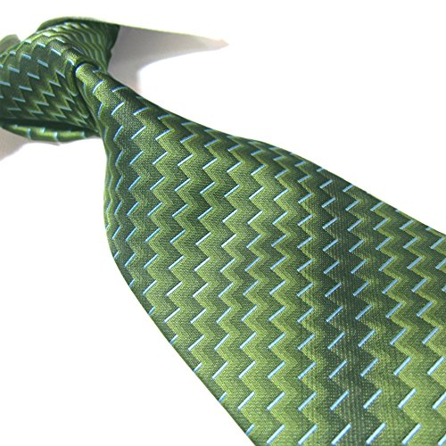 Extra Long Fashion Tie Geometric Men's Woven Jacquard Handmade Necktie 63'
