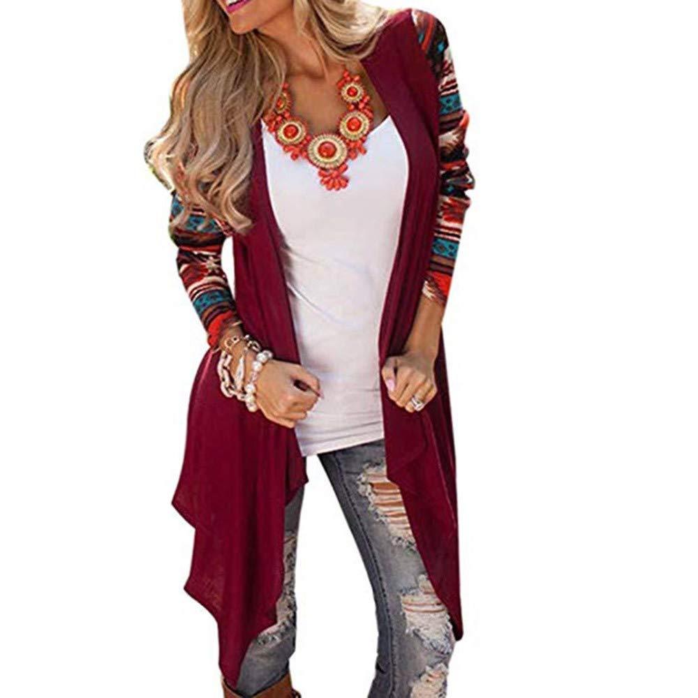 Womens Winter Faux Coat, LianMengMVP Women Lapel Long Sleeve Faux Shearling Coat Winter Boyfriend Warm Fluffy Winter Top Hoodie Sweatshirt