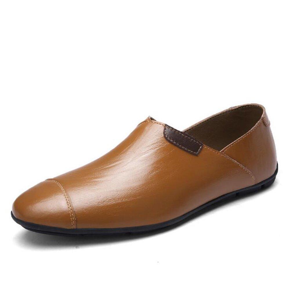 GAOLIXIA Herren Herren Herren Street Sandalen Large Größe Fashion Wandern Sandalen Herren Lederschuhe - Strandschuhe - Large Größe Casual Schuhe UK Größe 6-14 (Farbe   Single schuhe braun, Größe   42) d9e2d6