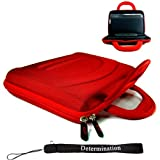 Eviant T7 7-Inch Portable LCD TV Kroo 11273 Cube Case (RED) + Includes a Determination Hand Strap