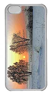 Customized iphone 5C PC Transparent Case - Winter Sunrise Personalized Cover