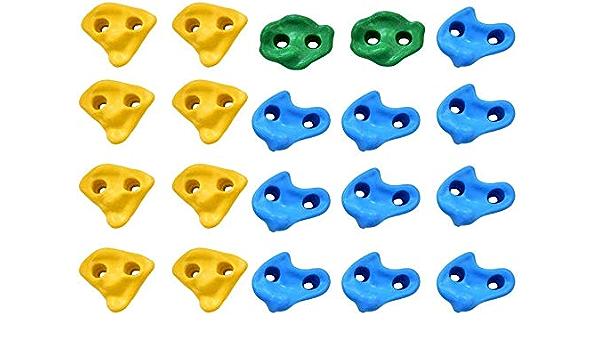 Presas de Escalada para niños, 20 piezas multicolor ...