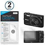Nikon Coolpix S6800 Screen Protector, BoxWave [ClearTouch Crystal (2-Pack)] HD Film Skin - Shields From Scratches for Nikon Coolpix S6800