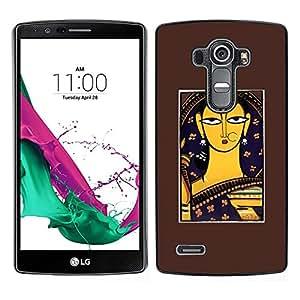 LECELL--Funda protectora / Cubierta / Piel For LG G4 -- Bodhi --