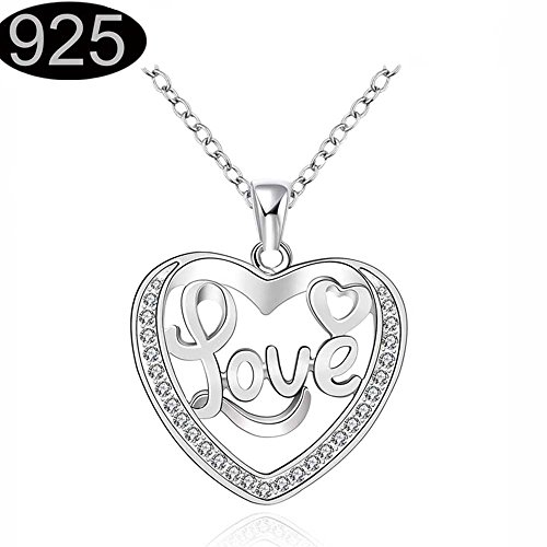 Open Heart Monogram Pendant Necklace For Women Teen Girls Junior Kids Children Jewelry Prime Gift