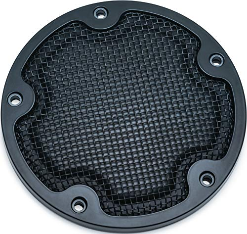 - Kuryakyn 6525 Mesh Derby Cover for '99-'17 Twin Cam, Satin Black
