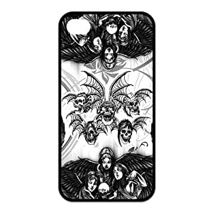 Protective TPU Rubber Coated Phone Case for iPhone 4S / iPhone 4 - A7X Avenged Sevenfold by ruishername