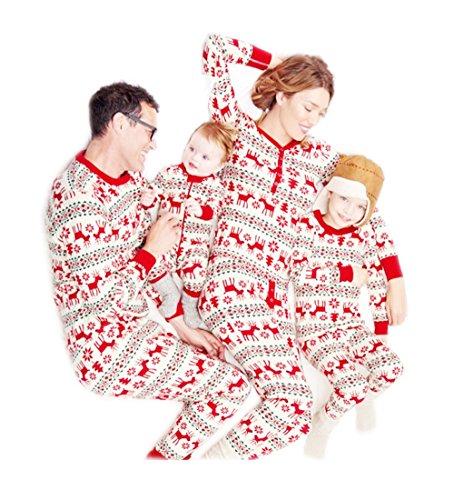 d041cf13f1 Babe Maps Christmas Pajamas Family Sets Deer Sleepwear Nightwear Father  Mother Kids Newborn Romper Top Pants for Dad M - Buy Online in Oman.