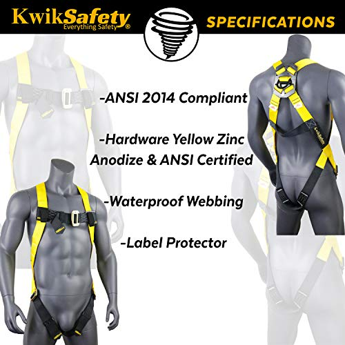 KwikSafety (Charlotte, NC) 2 PACK TORNADO 1D Fall Protection Full Body Safety Harness   OSHA ANSI Industrial Roofing Personal Protection Equipment   Construction Carpenter Scaffolding Contractor by KwikSafety (Image #4)