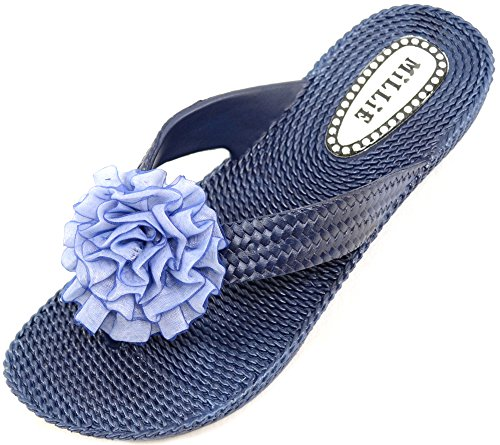Absolute Footwear - Sandalias de vestir de Caucho para mujer azul marino