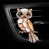 Air Freshener Car Perfume Diamond Car Aromatherapy Essential Oil Diffuser Locket with Vent Clip and Best Car Perfumes Best Home Decoration Car Decoration , AMind (Rose Gold)