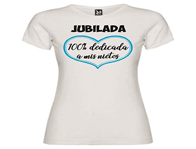 Camisetas divertidas Child jubilada 100% dedicada a mis Nietos - para Mujer Camisetas Talla Small